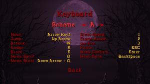 Keyboard scheme A
