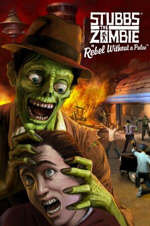 Stubbs the Zombie in Rebel Without a Pulse cover
