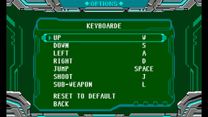 Keyboard mapping menu.