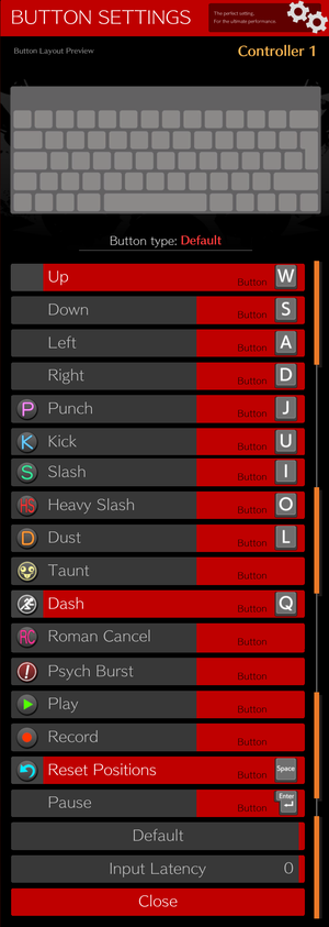 Battle Button Settings