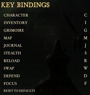 Keybindings.