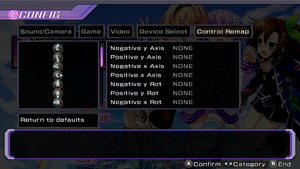 Controller rebind settings.