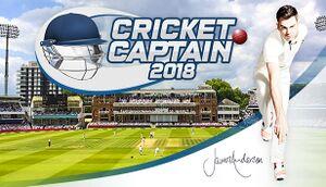 Cricket Captain 2018 cover