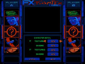 Character graphics settings.