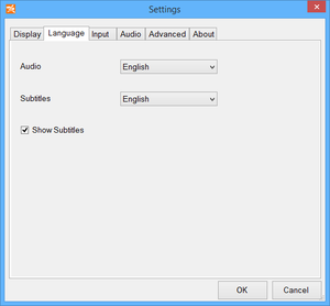 Launcher language settings.