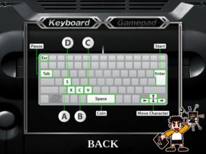 Keyboard controls.