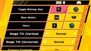 Keyboard bindings and gamepad settings (Main Game) 3/5