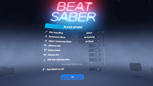 In-game player settings 2/2.