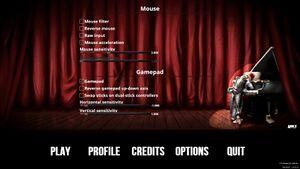 Mouse/gamepad settings