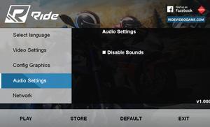 External audio settings