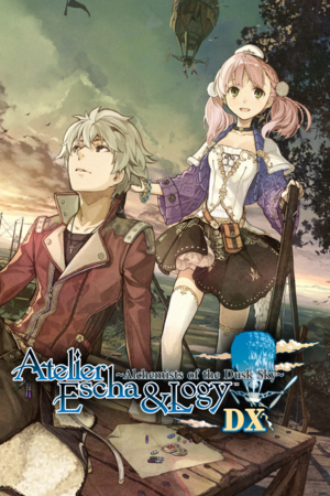 Atelier Escha & Logy Alchemists of the Dusk Sky DX cover.png