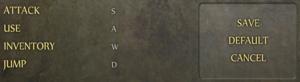 In-game keyboard control settings.