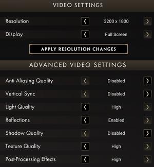 Graphics settings (1/2)