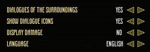 General (game) settings.