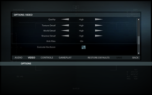 In-game video settings (2/2).