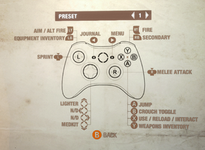 Controller first preset, three presets available.