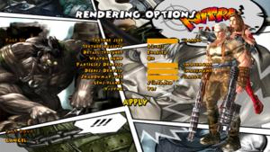 Advanced/Rendering settings.