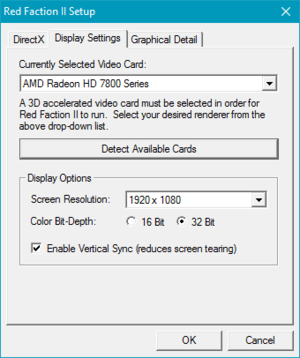 Launcher general video settings.