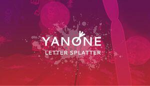 Yanone: Letter Splatter cover