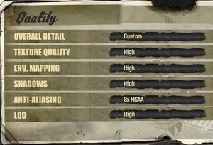 Quality settings