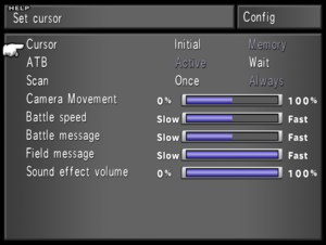Native in-game Config menu settings. These settings are also available in the System Menu.