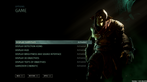In-game HUD Options