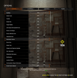 In-game HUD display settings.