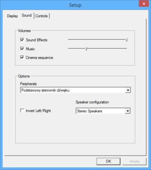 External audio settings.