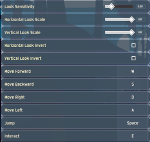 Keyboard and mouse settings (1/2).
