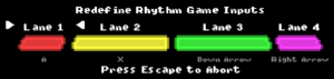 Rhythm game remapping
