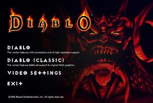Diablo GOG.com launcher.