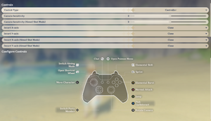 Controller options (Xbox One layout)