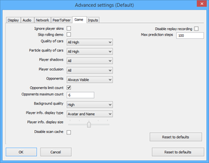 Launcher advanced settings.