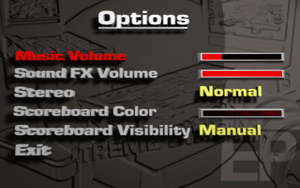 In-game options menu.