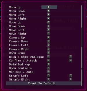 Remapping Menu