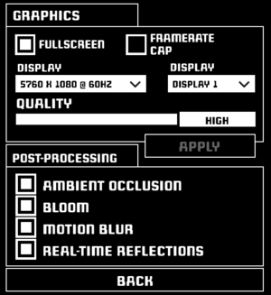 Display settings.