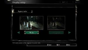 In-game aspect ratio settings.