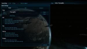 In-game basic general settings.