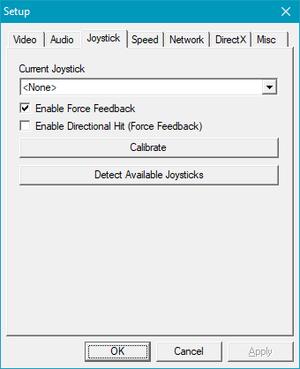 Launcher joystick settings.