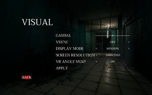 In-game visual settings