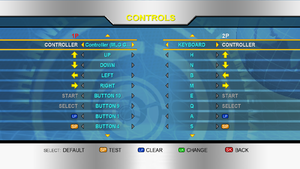 Keyboard/controller mapping settings.
