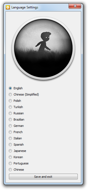 External language settings (GOG.com version).