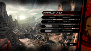 In-game general gamepad settings.