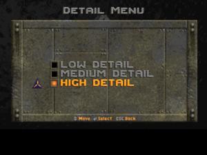 Detail settings.