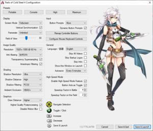 Launcher graphics settings
