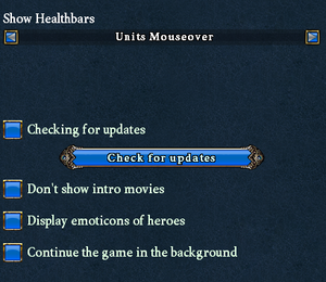 In-game game options.