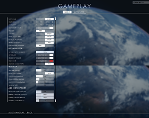 In-game general gameplay settings.
