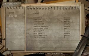 Condemned's detail settings menu.