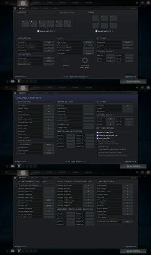 Keyboard and camera settings.