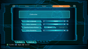 General settings under General Options.